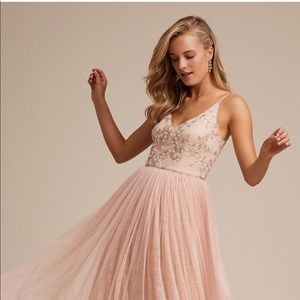 BHLDN Adrianna Papell Cluny Dress - Blush - Sz 4